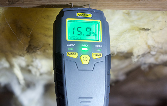 measuring crawl space moisture